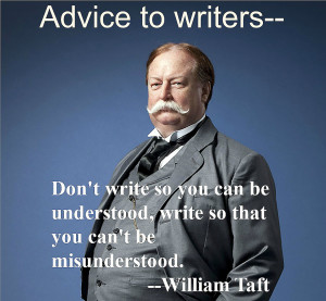William Taft advice2